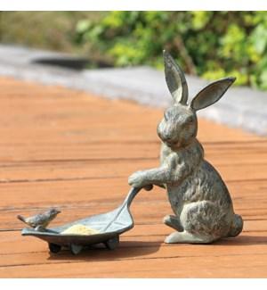 Rabbit and Leaf Bird Feeder