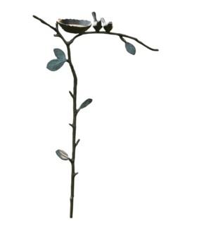 Lovebird Garden Stake Bird Feeder