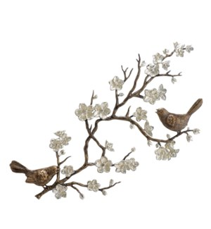 Birds and Cherry Blossom Wall Plaque