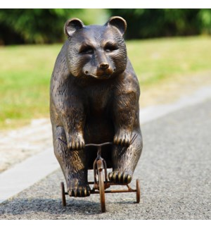 Big Bear on Little Trike Garden Sculpture