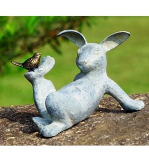 Playful Rabbit Garden Sculpture