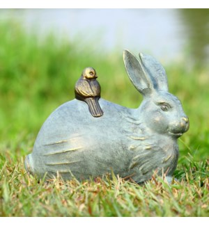 Rabbit and Little Friend Garden Sculpture