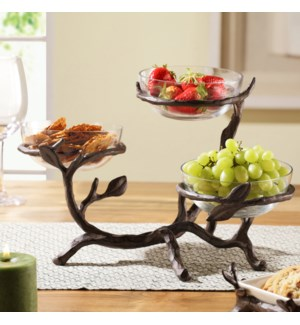 Twig Collection Glass Bowl Holder