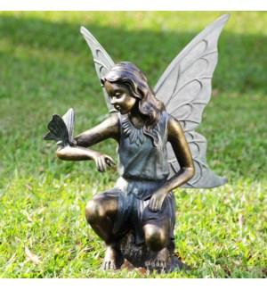 Grace Garden Sculpture - Fairy and Butterfly