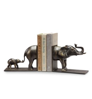 Elephant and Baby Bookends Pair