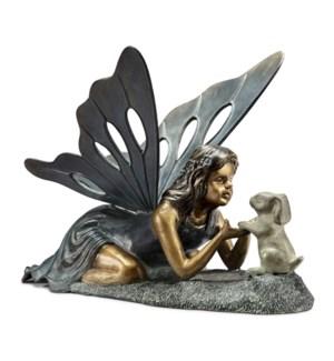 First Friend Garden Sculpture Fairy and Rabbit