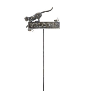 Cat and Mouse Welcome Garden Stake