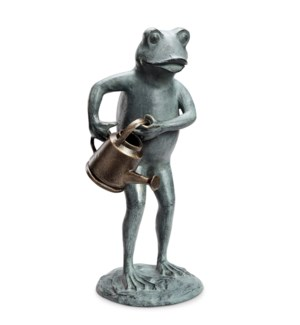 Frog with Watering Can Garden Statue
