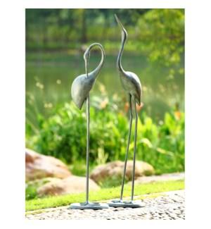 Contemplative Garden Crane Pair Set of 2