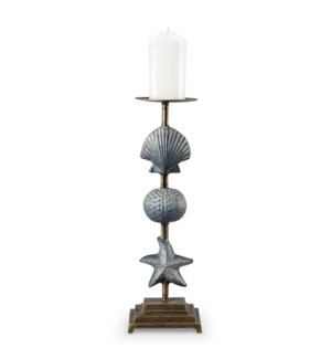 Shell and Starfish Pillar Candleholder