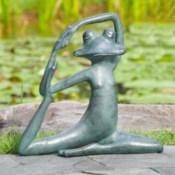 Relaxed Yoga Frog Garden Sculpture