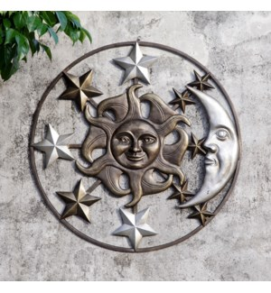 Sun Moon and Stars Wall Plaque