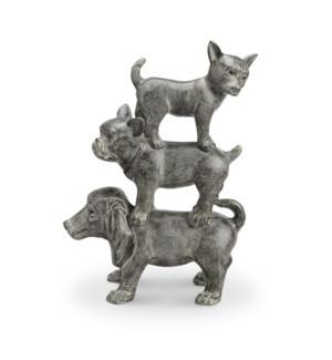 Dogpile Figurine Dog Trio