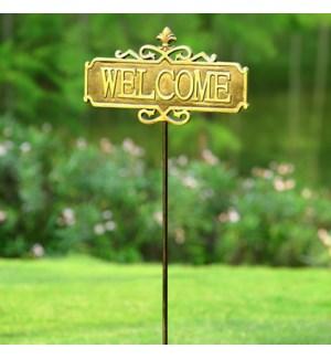 Fleur De Lis Garden Welcome Sign
