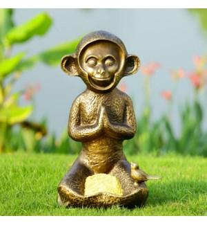 Meditating Monkey Birdfeeder
