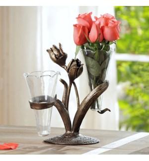 Tulip Double Budvase Holder