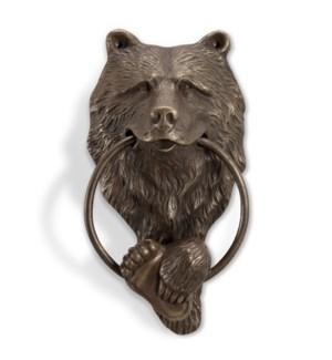 Brass Bear Head Doorknocker