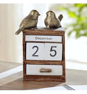 Lovebird Pair Desktop Calendar