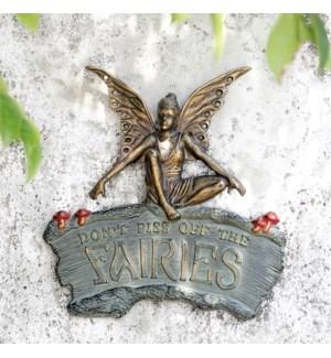Cautionary Fairy Garden Wall Plaque