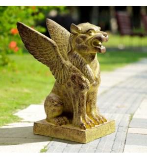Winged Lion Garden Sculpture