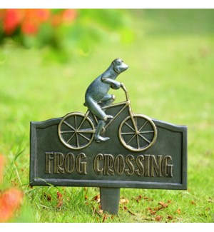 Frog Crossing Garden Sign