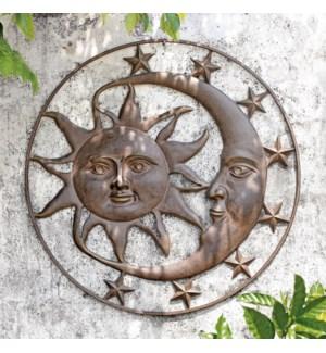 Celestial Splendor Sun and Moon Wall Plaque