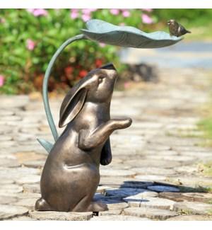 Rabbit, Bird and Leaf Birdfeeder