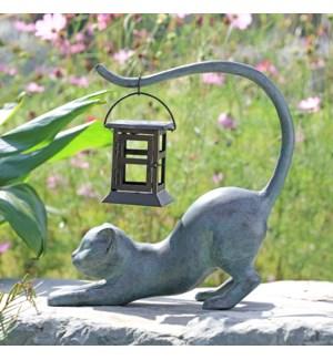 Stretching Cat LED Garden Lantern