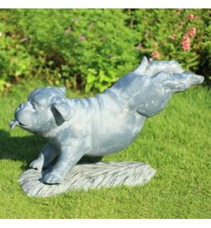 Fetch! Garden Sculpture Bulldog