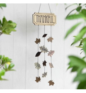 Thankful Windchime With Leaves