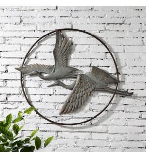 Herons in Flight Garden Wall Hanging