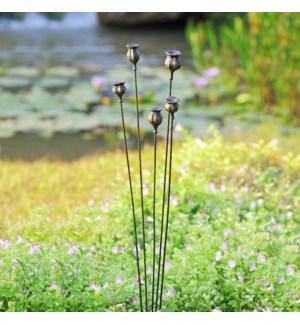 Poppy Garden Decor on Flexible Stake