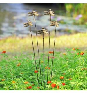 Dragonfly Garden Decor on Flexible Stake