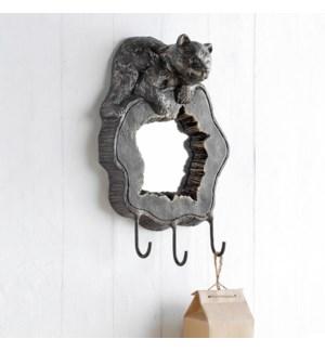 Bear Cub Wall Mirror and Hook
