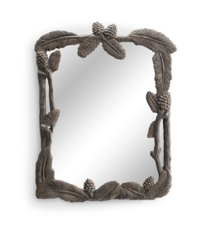 Pinecone and Leaf Wall Mirror