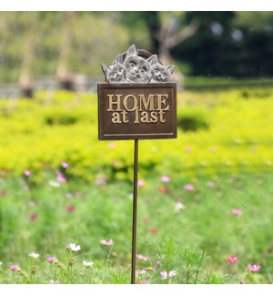 Home at Last Garden Sign on Stake