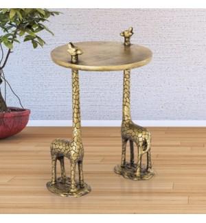 Giraffe Pair End Table