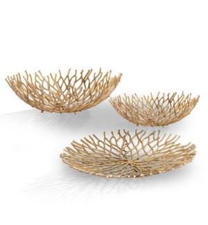 Coral Tray and Bowls Set