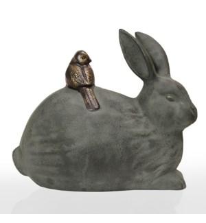 Rabbit and Little Friend Garden Sculpture
