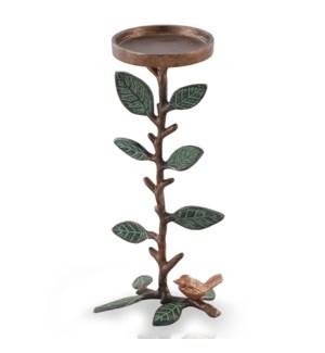Short Leaf and Branch Pillar Candleholder