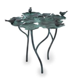 Bird Quartet on Leaves Birdfeeder/Birdbath