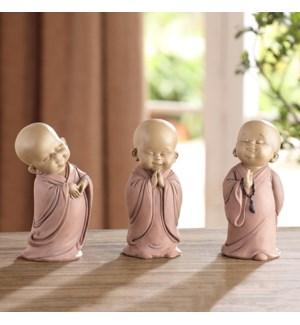 Standing Buddhist Monks