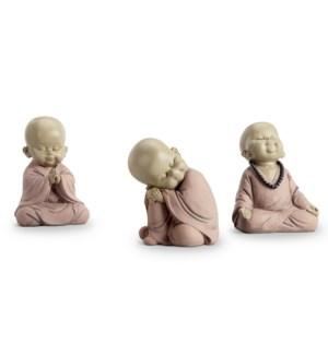 Sitting Buddhist Monks