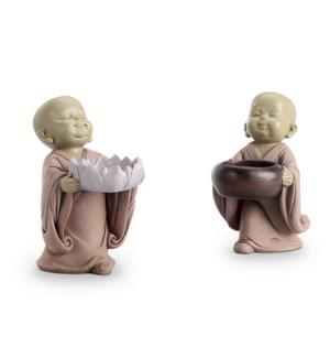 Buddhist Monk Ring Holders S/2