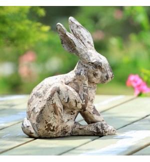 Scratching Rabbit Garden Sculpture