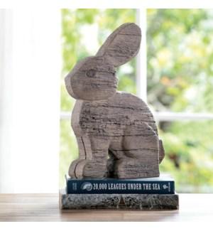 Rustic Rabbit Garden Sculpture