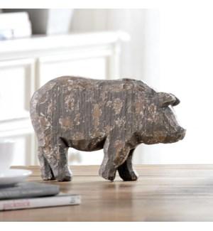 Rustic Pig Sculpture