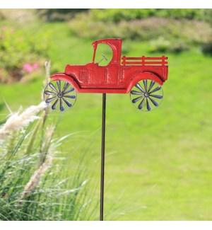 Red Truck Pinwheel Garden Stake