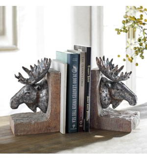 Moose Bookends Pair