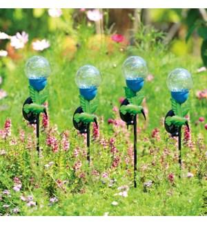 Hummingbird LED Light Garden Stakes Set of 4